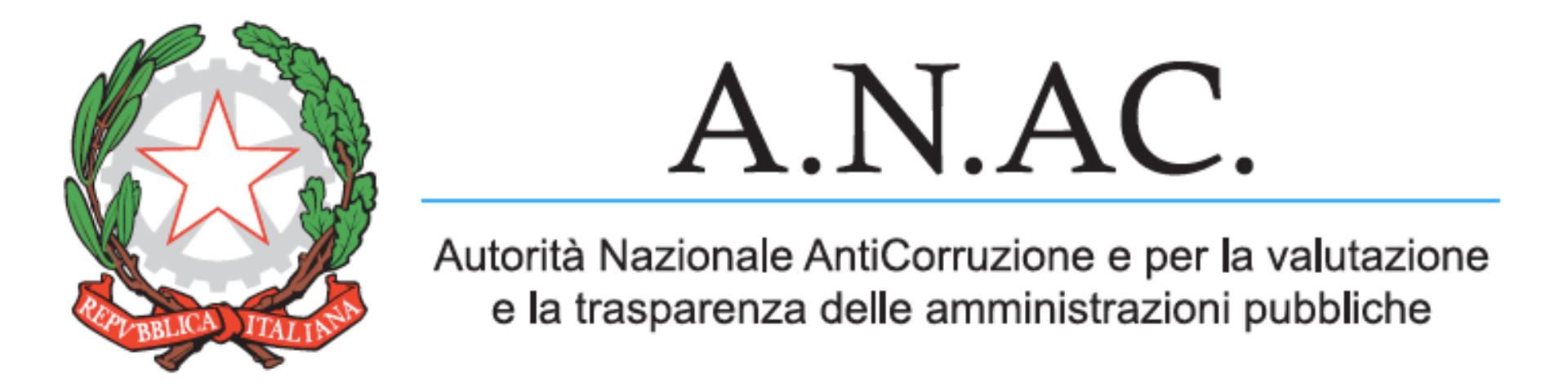 ANAC Autorità Nazionale Anticorruzione