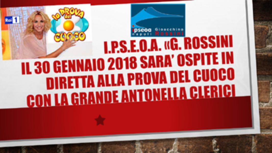 IPSEOA ROSSINI - Sarà ospite il 30 gennaio 2018