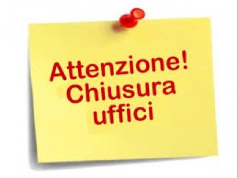 Chiusura Uffici fino al termine dello stato di emergenza