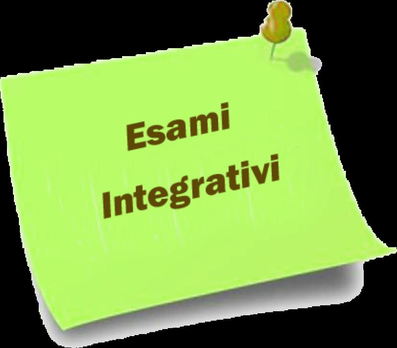 Esami  Integrativi 2018